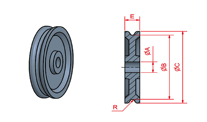 LP pulley without bearing